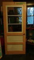 "antique 1920s era solid wood ""Dayton"" style 2panel Door"