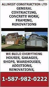GENERAL CONTRACTING, CUSTOM SHOPS AND GARAGES, PRE ENGINEERED BU