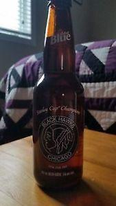 Labatt's Blue Painted Beer Bottle - Chicago Blackhawks