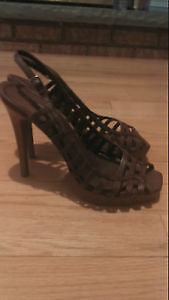 Aldo Brown Leather Slingback Sandals! Size: 7