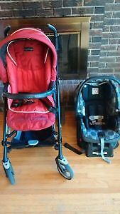 Peg Perego stroller and car seat combo