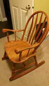 Solid Oak Rocking Chair - asking $90 OBO