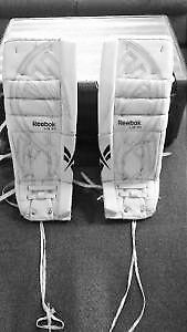 Reebok White L9 IN 32+1 Goalie Pads