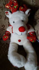 Red/White Reindeer Stuffed Toy