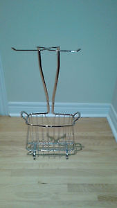 Magazine & Double Toilet Paper Stand - New
