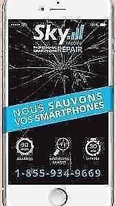 Réparation Vitre cassé, iPad iPhone GARANTIE DE 90 JOURS SUR TOUT NOS RÉPARATIONS