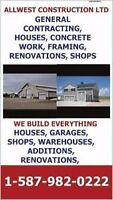 GENERAL CONTRACTING, WE BUILD SHOPS, GARAGES, CUSTOM HOMES,RENOS