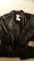 Brown Leather Jacket - Size 22 - NEW