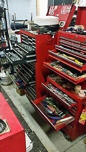 Two full boxes of tools