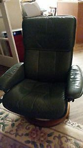 Ekornes Stressless Leather Reclining Chair w Leather Footstool