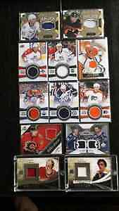 5 pages of nhl jersey cards  for eletric guitar an amp