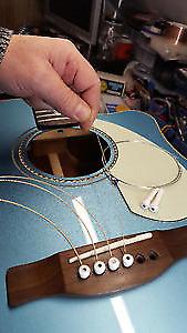Encordage et mise au point de guitares et basses