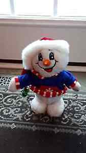 Singing Snowman, Lights up and Sings