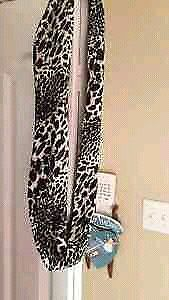 Infinity animal print warm winter scarf from Laura.