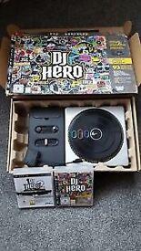 PS3 DJ HERO TURNTABLE + GAMES 1&2