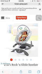 New Fisher-price 4 in 1 Rock'n Glide soother