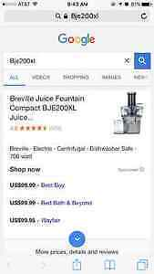 Breville Juice Fountain Windsor Region Ontario image 4