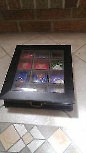 Bombay assorted tea cabinet wood and glass display case
