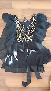 Black top with gold beads! Size: S Kitchener / Waterloo Kitchener Area image 1