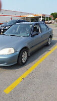 1999 Honda Civic Sedan safetied and e tested trade for bike 250c