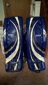 RBK Reebok Pro P3 Blocker, Glove & Goalie Pads, 34+2, like new!