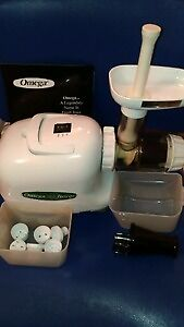 Omega Slow Speed Juicer with everything shown - - FIRST $125