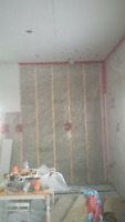 Insulation drywall mudding painting