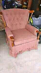 Salmon color rocker chair