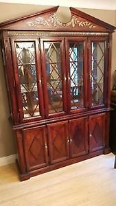Hutch-China cabinet, solid cherry