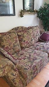 Floral Pattern Couch & Loveseat