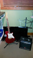 Godin Electric Guitar with Peavy Rage 158 Amp