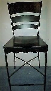 Pier One wrought iron bar stools (2 bar stools)