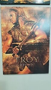 Pirate Hook, Swords & TROY Poster for Movie Room Props