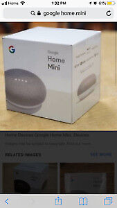 Brand new factory sealed Google mini home for only $59.99.