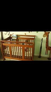 Crib and matching change table