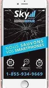 *** Nous sauvons vos smartphones *** Reparation Réparations sur place *** Avec Garantie *** Sans rendez-vous **