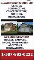 EXCAVATING, GENERAL CONTRACTING, CUSTOM SHOPS AND GARAGES, PRE E