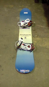 SNOWBOARD INVASION with bindings $50! SNOWBOARD SALE!!