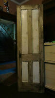 "antique Edwardian solid fir ""Dakota"" style 4panel Pantry Door"
