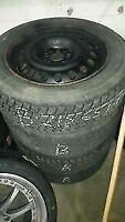 215/65R17 Toyo Observe G-02 With Steel wheels 5x114.3 Set of 4