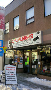 Retail Cashier / Clerk Chumleighs Video Games Full or Part Time Peterborough Peterborough Area image 1