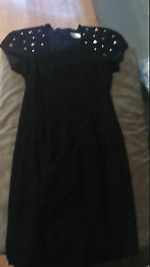 Vintage Black Dress with Gold Studs! Size: 4