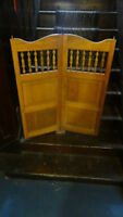 Two(2) antique 1940s era solid wood Saloon Swinging Doors