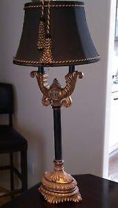 GOLD AND BLACK DESIGNER TABLE LAMP
