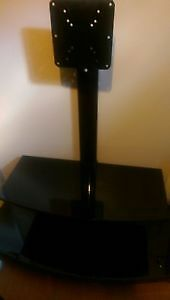Like New Black Glass TV Stand