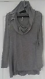 Grey Longsleeved Top With Hood, S