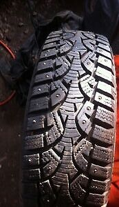 Selling 4 245/65/17 studded tires and rims