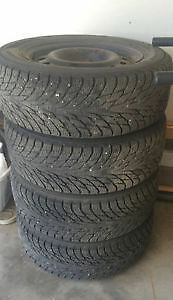4 Winter Tires & Rims 215/60R16 from 2012 Nissan Altima