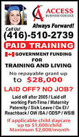 SECOND CAREER GOVERNMENT FUNDED DIPLOMA PROGRAMS