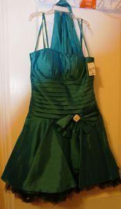 greenish blue prom dress
